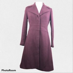 INC Mauve Snap Up Trench Coat Size Small